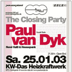 25.01.2003 @ KW Closing Party, München